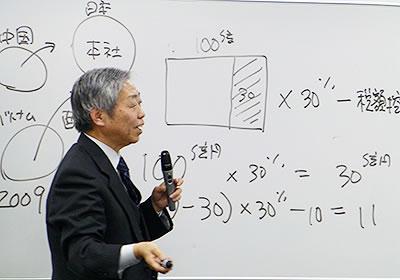 法人税負担引き下げのカラクリを指摘する菅氏