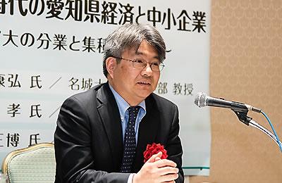 グローバル化による産業発展を語る渋井氏