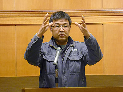 自社の取り組みを語る安田氏